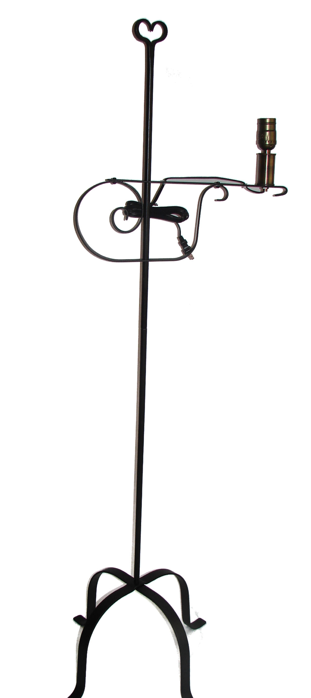 wrought iron floor lamp - adjustable