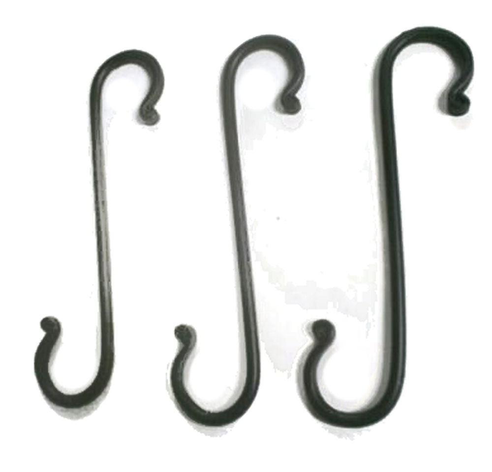 wrought iron arched hooks
