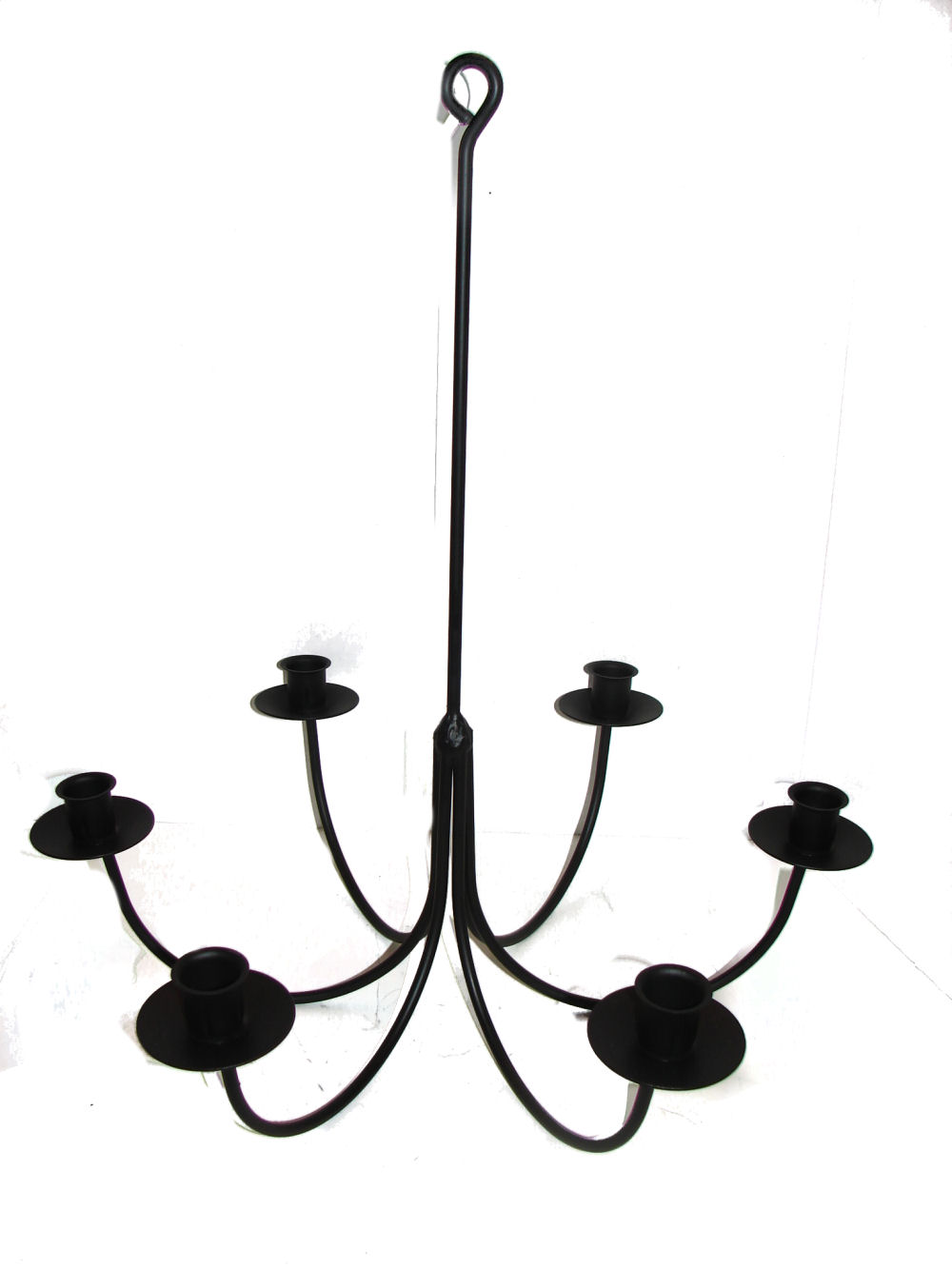 Wrought Iron Candle Chandeliers - Candoliers